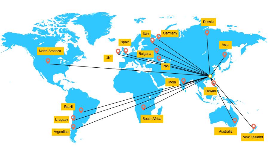 全球经销商分布信息